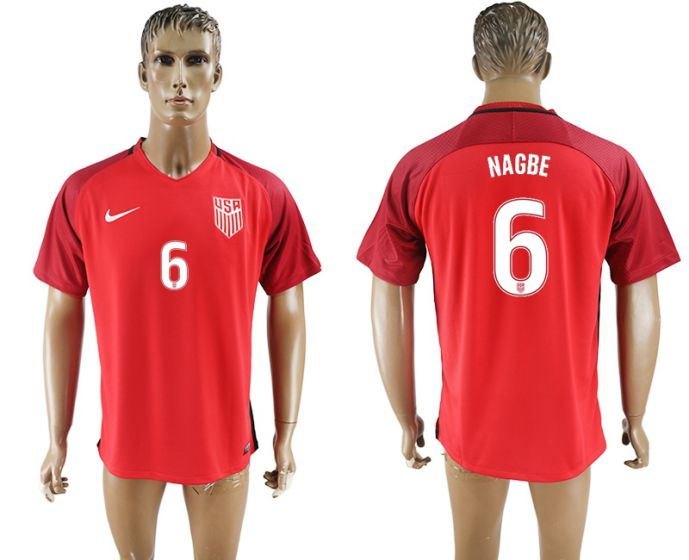 Men 2017-2018 national United States away aaa version 6 red soccer jersey