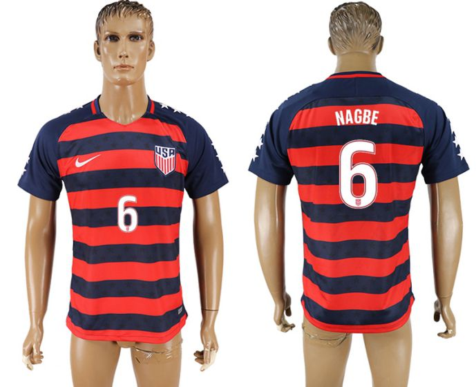 Men 2017-2018 national United States away aaa version 6 soccer jersey