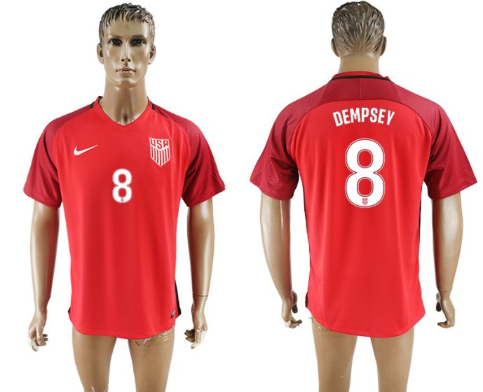 Men 2017-2018 national United States away aaa version 8 red soccer jersey