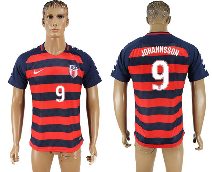 Men 2017-2018 national United States away aaa version 9 Johannsson soccer jersey