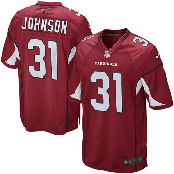 Men Arizona Cardinals 31 David Johnson Nike Cardinal Game Nike NFL Jersey