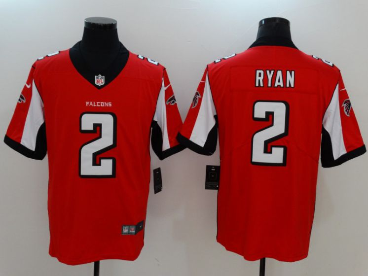 Men Atlanta Falcons 2 Ryan Red Nike Vapor Untouchable Limited NFL Jerseys