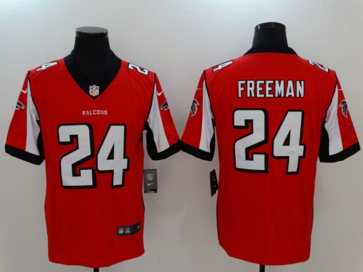 Men Atlanta Falcons 24 Freeman Red Nike Vapor Untouchable Limited NFL Jerseys