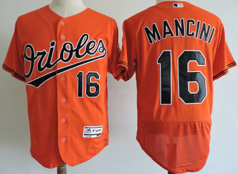 Men Baltimore Orioles 16 Trey Mancini Elite Orange MLB Jerseys