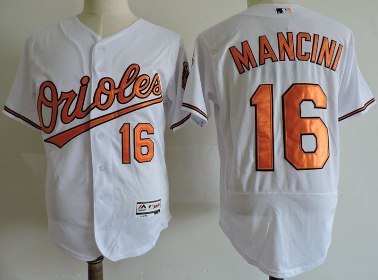 Men Baltimore Orioles 16 Trey Mancini White Elite MLB Jerseys
