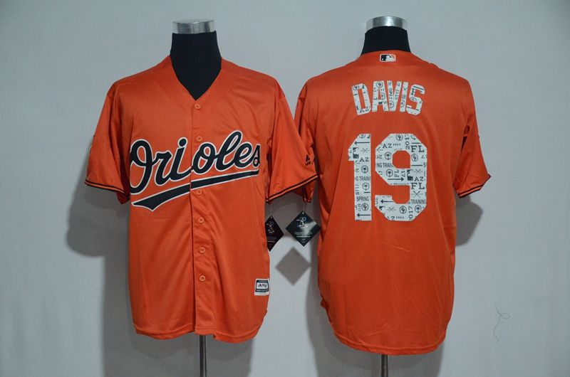 Men Baltimore Orioles 19 Chris Davis Orange 2017 Spring Training MLB Jerseys