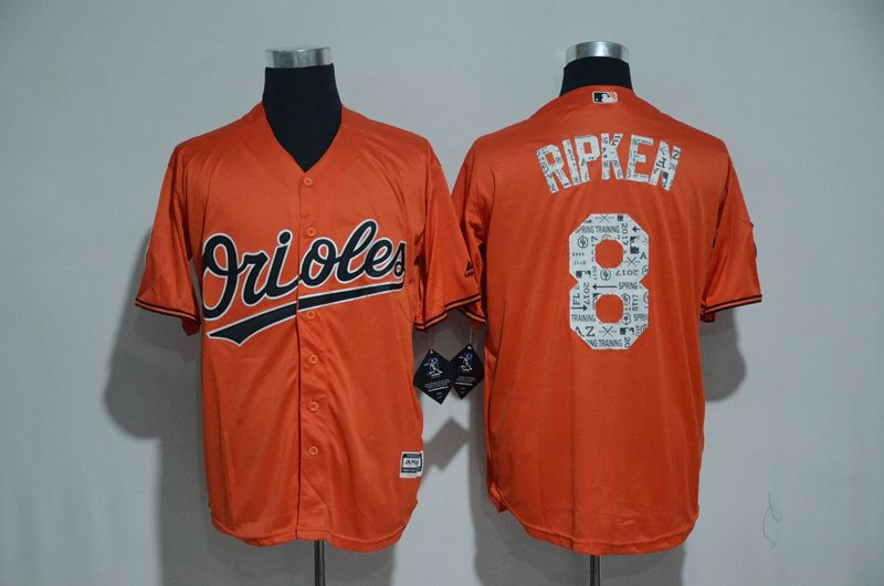 Men Baltimore Orioles 8 Cal Ripken Orange 2017 Spring Training MLB Jerseys