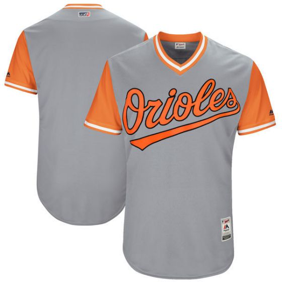 Men Baltimore Orioles Blank Grey New Rush Limited MLB Jerseys