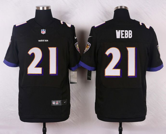 Men Baltimore Ravens 21 Webb Black Elite Nike NFL Jerseys