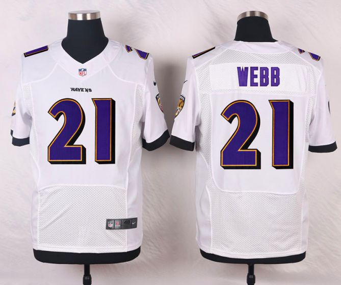 Men Baltimore Ravens 21 Webb White Elite Nike NFL Jerseys