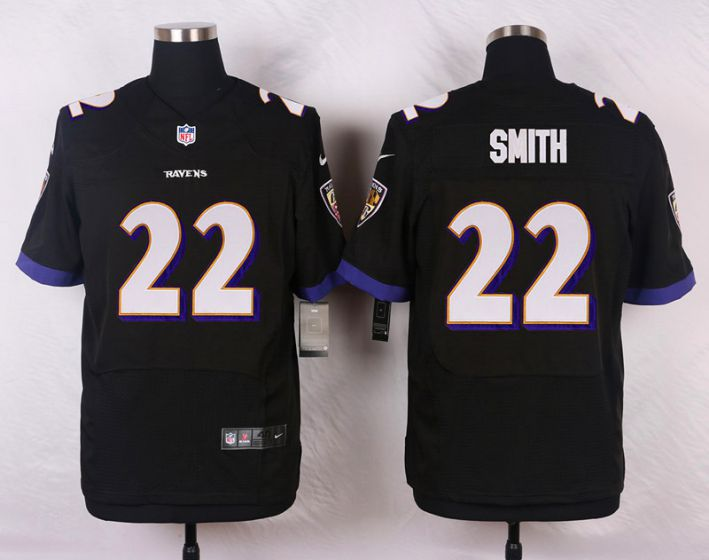 Men Baltimore Ravens 22 Jimmy Smith Black Elite Nike NFL Jerseys