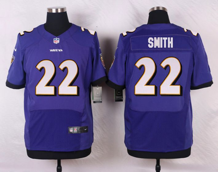 Men Baltimore Ravens 22 Jimmy Smith Purple Elite Nike NFL Jerseys