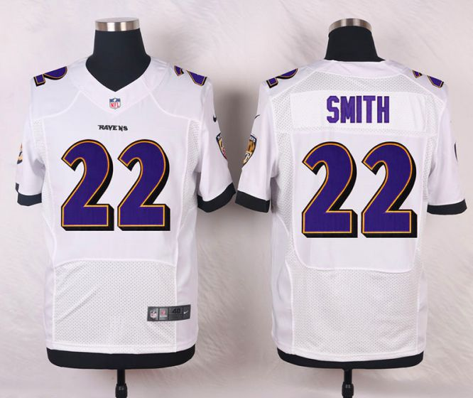 Men Baltimore Ravens 22 Jimmy Smith White Elite Nike NFL Jerseys
