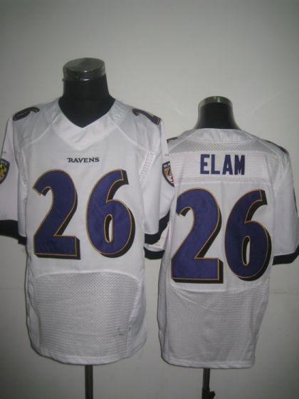 Men Baltimore Ravens 26 Matt Elam White Elite Nike NFL Jerseys