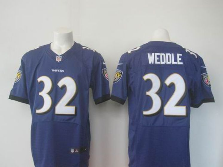Men Baltimore Ravens 32 Eric Weddle Black Elite Nike NFL Jerseys