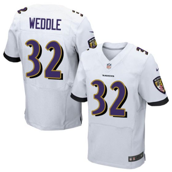Men Baltimore Ravens 32 Eric Weddle White Elite Nike NFL Jerseys