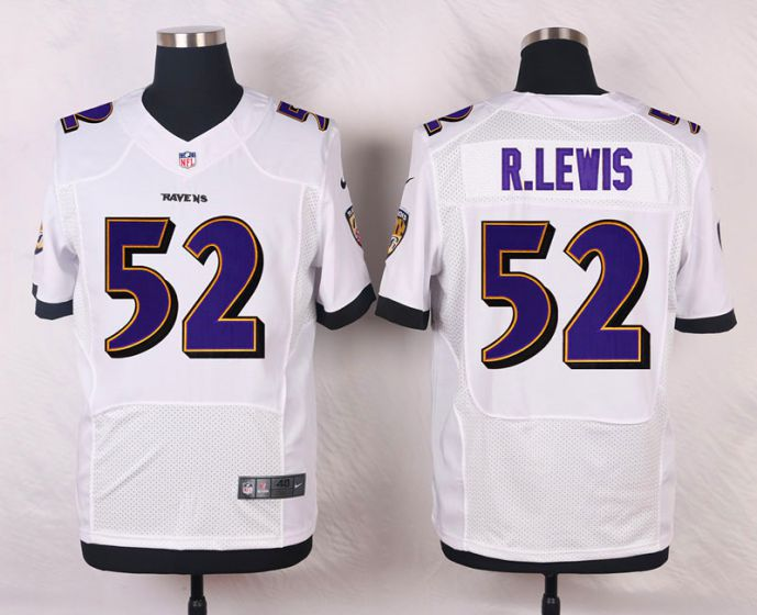 Men Baltimore Ravens 52 Ray Lewis White Elite Nike NFL Jerseys