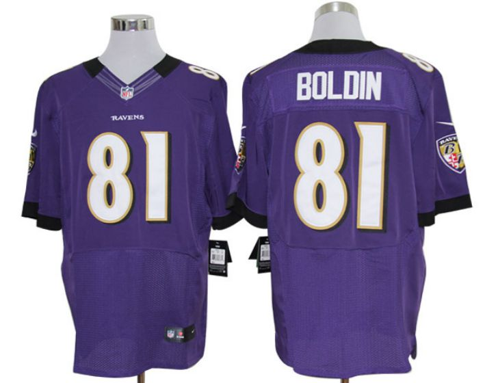 Men Baltimore Ravens 81 boldin Purple Elite Nike NFL Jerseys