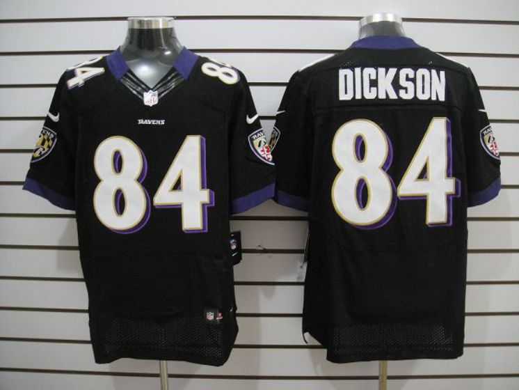 Men Baltimore Ravens 84 Dickson Black Elite Nike NFL Jerseys