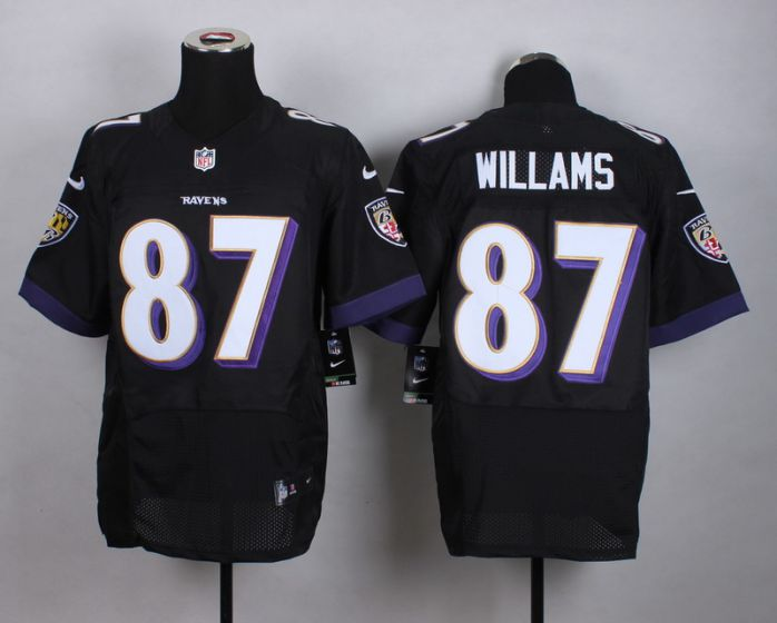 Men Baltimore Ravens 87 Maxx Williams Black Elite Nike NFL Jerseys