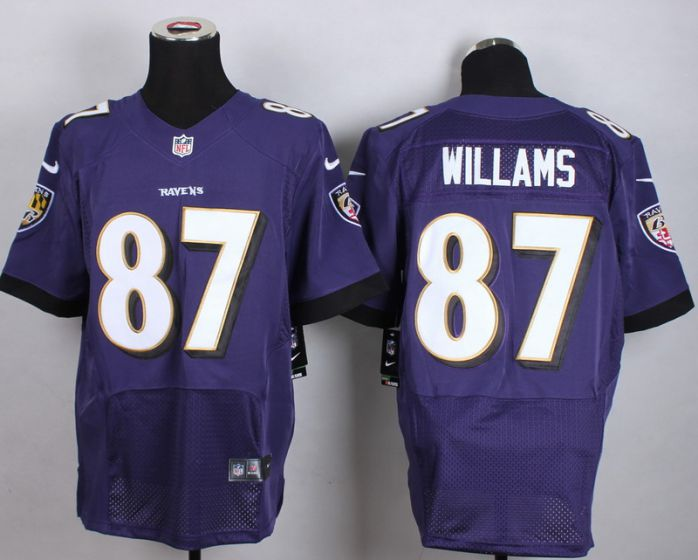 Men Baltimore Ravens 87 Maxx Williams Purple Elite Nike NFL Jerseys