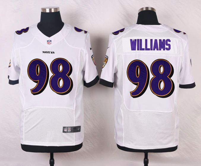 Men Baltimore Ravens 98 Brandon Williams WhiteElite Nike NFL Jerseys