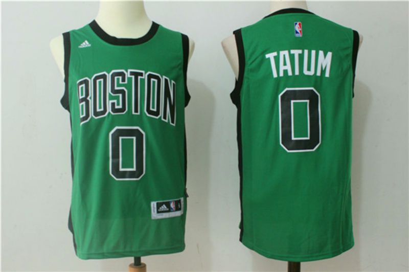 Men Boston Celtics 0 Jayson Tatum Green Black NBA Jerseys