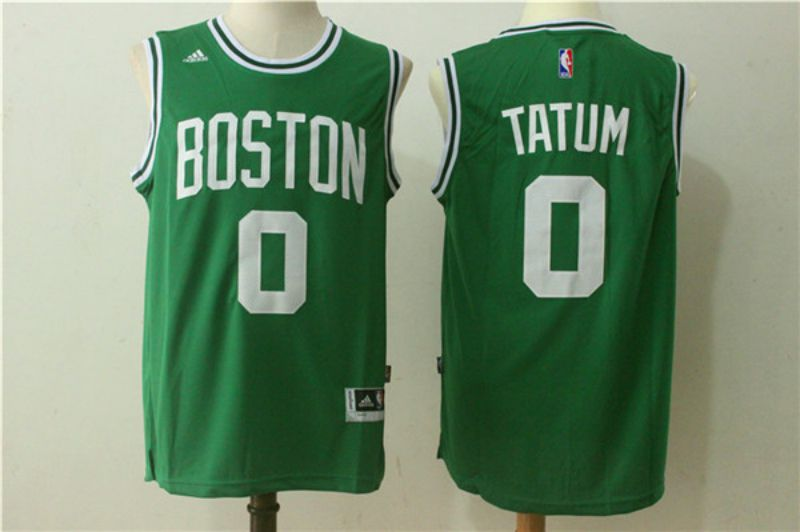 Men Boston Celtics 0 Jayson Tatum Green NBA Jerseys