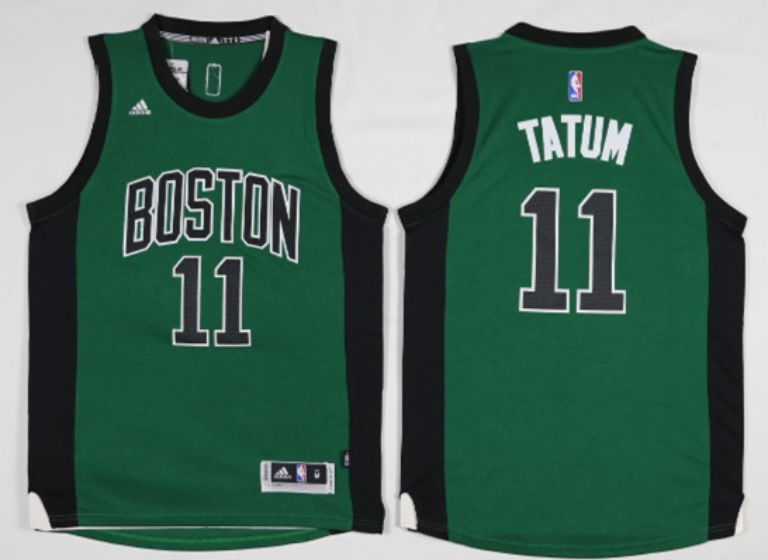 Men Boston Celtics 11 Tatum Green Black NBA Jerseys