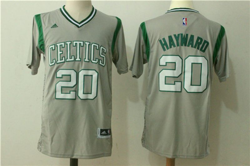 Men Boston Celtics 20 Hayward Gray Stitched adidas Revolution 30 Swingman NBA Jerseys