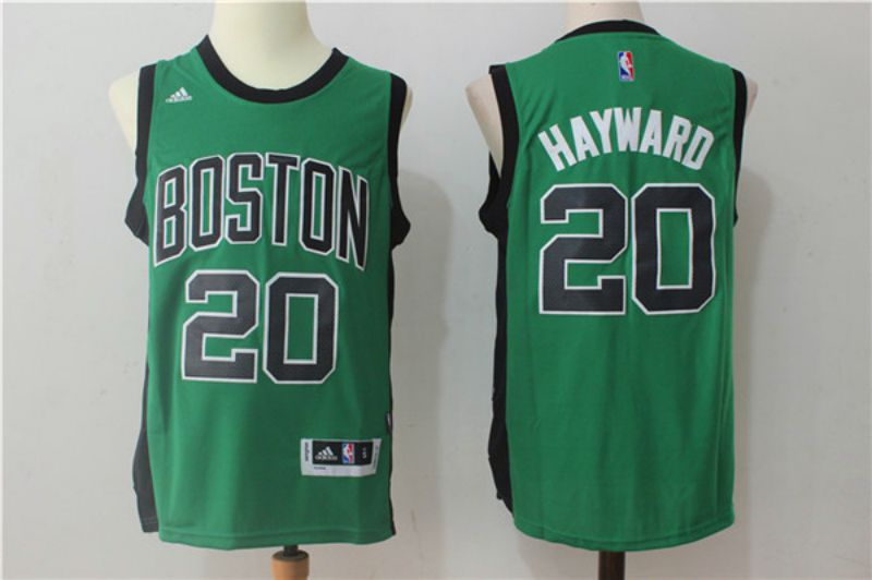 Men Boston Celtics 20 Hayward Green Black NBA Jerseys