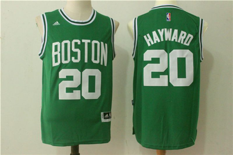 Men Boston Celtics 20 Hayward Green NBA Jerseys