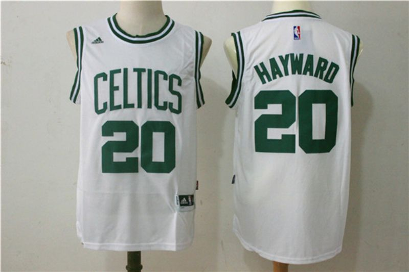 Men Boston Celtics 20 Hayward White NBA Jerseys