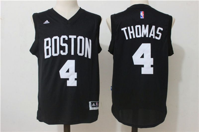 Men Boston Celtics 4 Isaiah Thomas Black NBA Jerseys