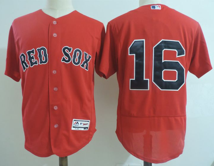 Men Boston Red Sox 16 Andrew Benintendi Red Elite MLB Jerseys