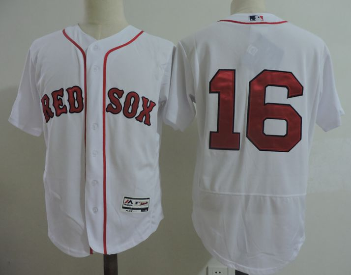 Men Boston Red Sox 16 Andrew Benintendi White Elite MLB Jerseys