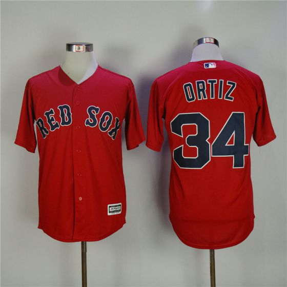 Men Boston Red Sox 34 David Ortiz Red Game MLB Jerseys