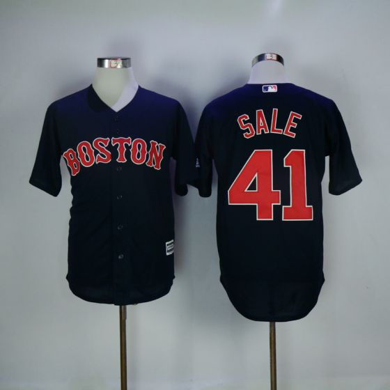 Men Boston Red Sox 41 Chris Sale Blue Game MLB Jerseys