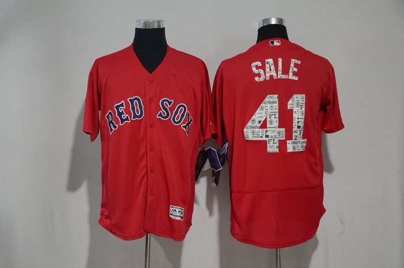 Men Boston Red Sox 41 Chris Sale Red 2017 Spring Training Elite MLB Jerseys