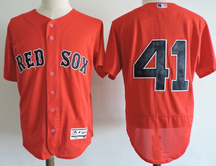 Men Boston Red Sox 41 Chris Sale Red Elite MLB Jerseys