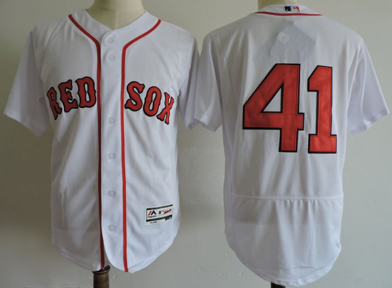 Men Boston Red Sox 41 Chris Sale White Elite MLB Jerseys