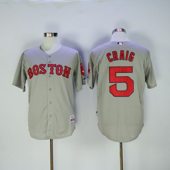 Men Boston Red Sox 5 Allen Craig Gray MLB Jerseys