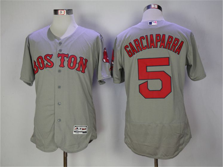 Men Boston Red Sox 5 Nomar Garciaparra Grey Elite MLB Jerseys