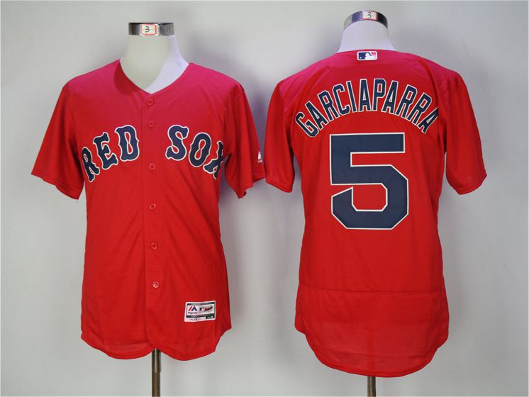 Men Boston Red Sox 5 Nomar Garciaparra Red Elite MLB Jerseys