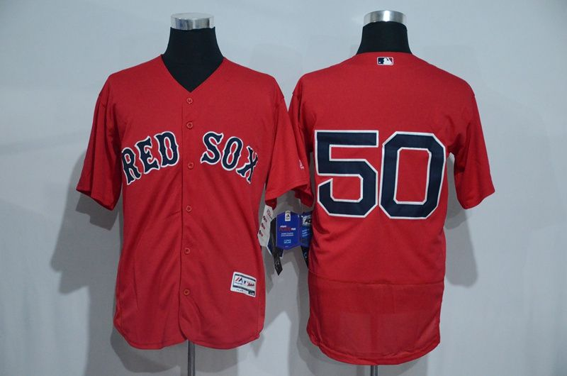 Men Boston Red Sox 50 betts Red Elite MLB Jerseys