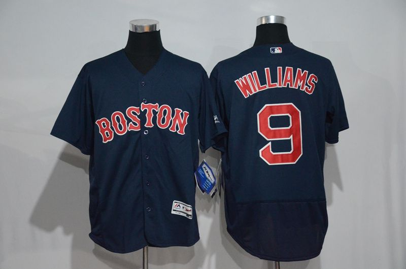 Men Boston Red Sox 9 Ted Williams Blue Elite MLB Jerseys