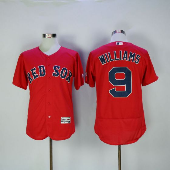 Men Boston Red Sox 9 Ted Williams Red Elite Throwback MLB Jerseys