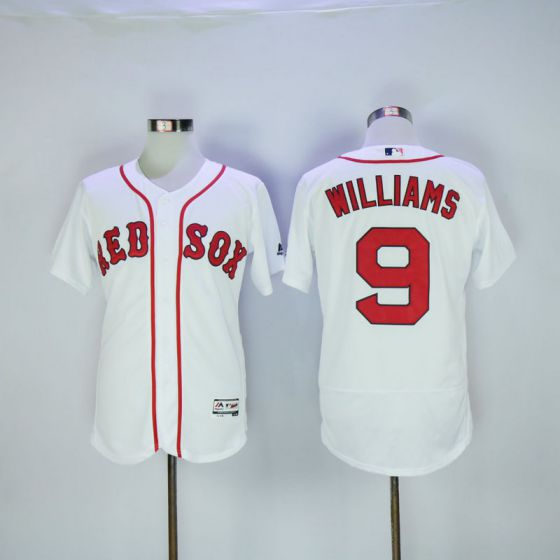 Men Boston Red Sox 9 Ted Williams White Elite MLB Jerseys
