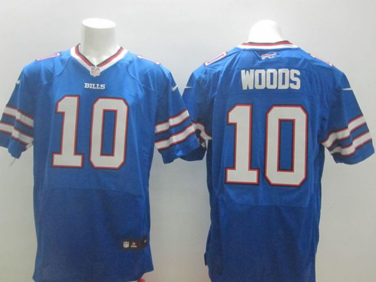 Men Buffalo Bills 10 Woods Blue Elite Nike NFL Jerseys