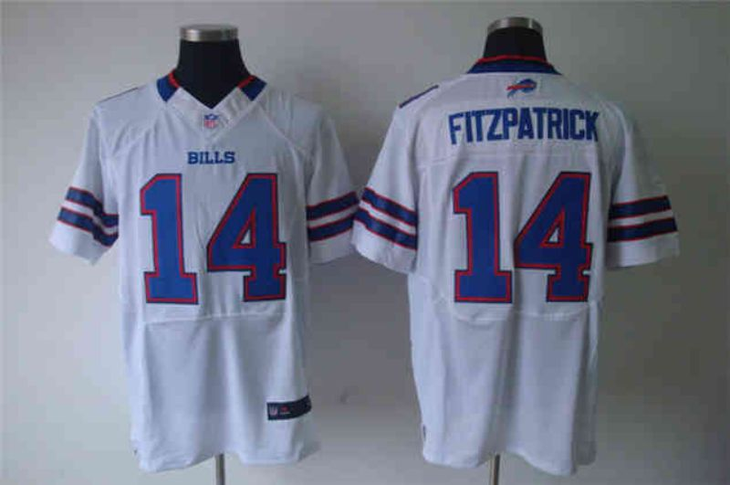 Men Buffalo Bills 14 Fitzpatrick White Elite Nike NFL Jerseys